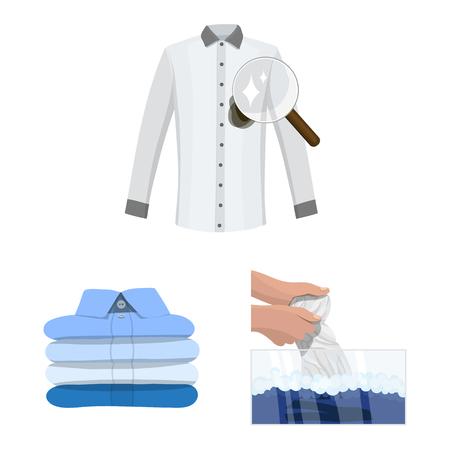 Ilustración de vector de lavandería y símbolo limpio. Colección de lavandería y símbolo de stock de ropa para web.