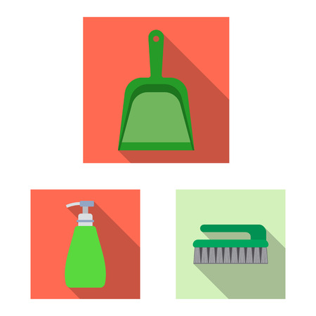 Vector design of cleaning and service icon. Set of cleaning and household stock vector illustration.