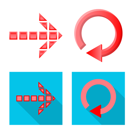 Isolated object of element and arrow symbol. Collection of element and direction vector icon for stock.