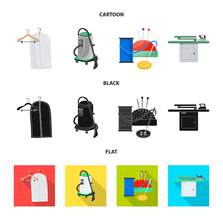 Isolated object of laundry and clean icon. Collection of laundry and clothes vector icon for stock. Ilustración de vector