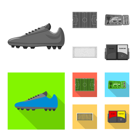 Isolated object of soccer and gear symbol. Set of soccer and tournament vector icon for stock. Illustration
