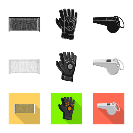 Vector design of soccer and gear icon. Set of soccer and tournament stock symbol for web.