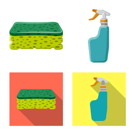 vector illustration of cleaning and service icon. Collection of cleaning and household stock vector illustration.