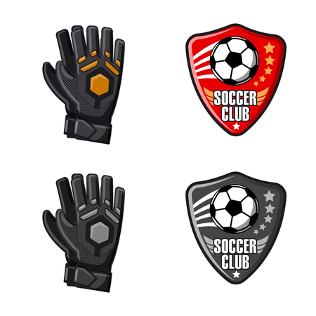 Isolated object of soccer and gear symbol. Collection of soccer and tournament stock vector illustration.
