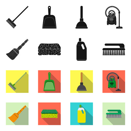 Isolated object of cleaning and service symbol. Collection of cleaning and household stock symbol for web.