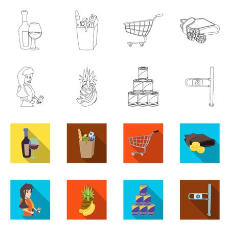 vector design of food and drink symbol. Set of food and store vector icon for stock.