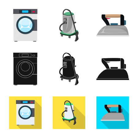 vector illustration of laundry and clean icon. Set of laundry and clothes vector icon for stock.