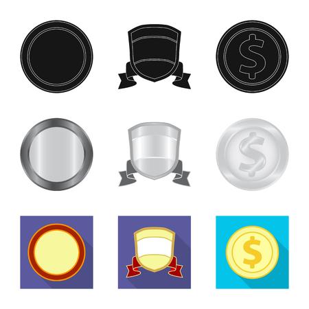 vector design of emblem and badge logo. Set of emblem and sticker stock symbol for web.