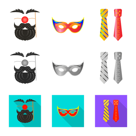 Vector illustration of party and birthday sign. Collection of party and celebration stock vector illustration.