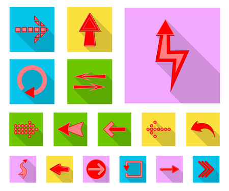 Vector illustration of element and arrow symbol. Collection of element and direction vector icon for stock.