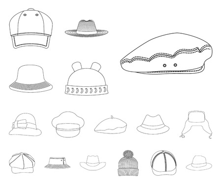 Isolated object of kid and baby icon. Set of kid and beanie stock symbol for web.