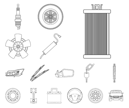 Vector illustration of auto and part logo. Collection of auto and car stock vector illustration. Logo