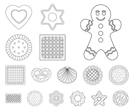 Vektordesign von Keks und Backsymbol. Satz Keks und Schokoladenbrühe Symbol für Web.