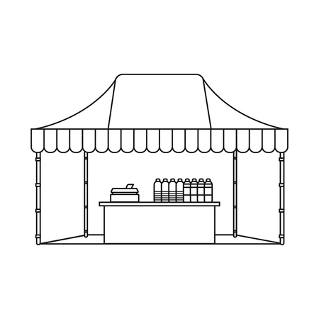 Isolated object of market and exterior symbol. Collection of market and food stock symbol for web.