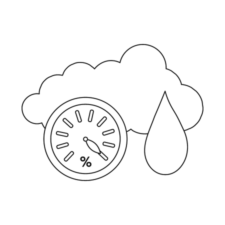 Vector illustration of weather and climate icon. Collection of weather and cloud stock vector illustration. 일러스트