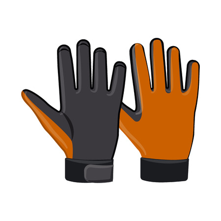 Vector illustration of glove and winter symbol. Set of glove and equipment stock symbol for web. Banque d'images - 115635279