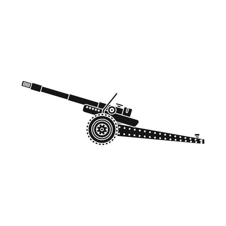 Vector design of weapon and gun logo. Collection of weapon and army vector icon for stock. Stock Vector - 115637584