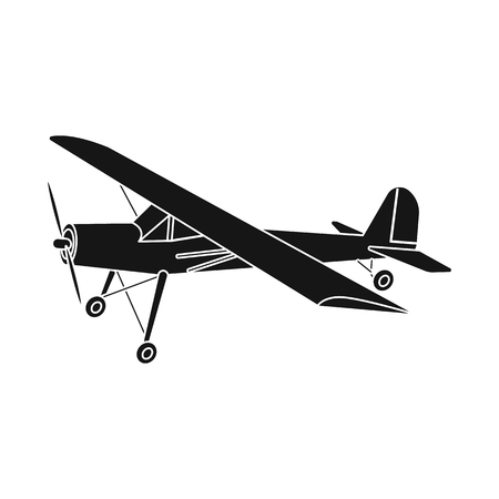 Vector design of plane and transport icon. Collection of plane and sky stock vector illustration. Stock Vector - 115637939