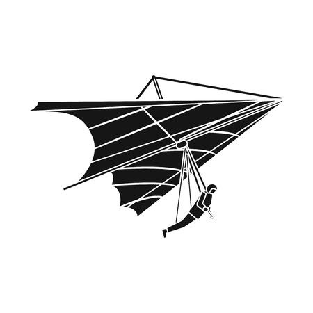 Isoliertes Objekt des Flugzeug- und Transportsymbols. Satz Flugzeug- und Himmelvorrat-Vektorillustration.