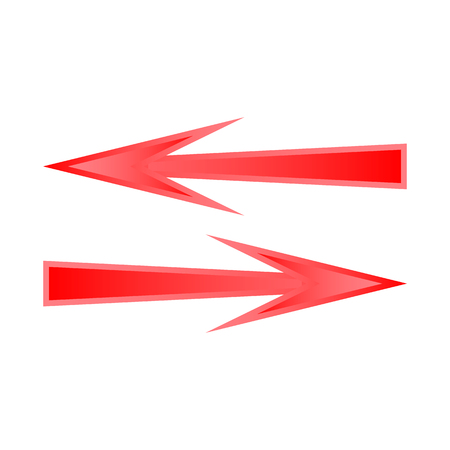 Vector design of element and arrow icon. Collection of element and direction stock symbol for web. Stock Illustratie