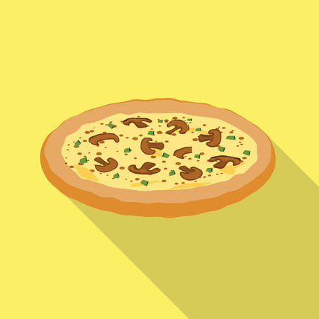 Isolated object of pizza and food logo. Collection of pizza and italy vector icon for stock. 일러스트