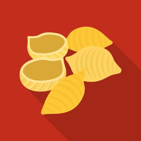 Vector design of pasta and carbohydrate icon. Collection of pasta and macaroni stock vector illustration. Vettoriali