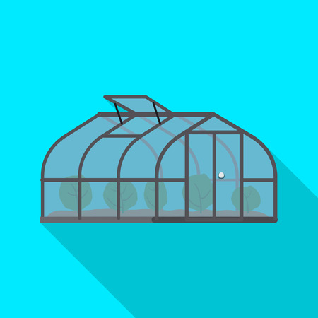 Vector illustration of greenhouse and plant icon. Set of greenhouse and garden stock symbol for web. Standard-Bild - 115638558