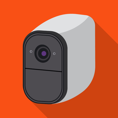 Vector design of cctv and camera icon. Set of cctv and system stock symbol for web. 向量圖像