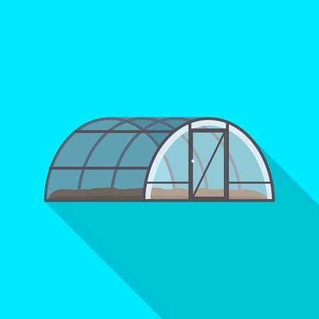 Vector illustration of greenhouse and plant sign. Set of greenhouse and garden vector icon for stock. Standard-Bild - 115701339