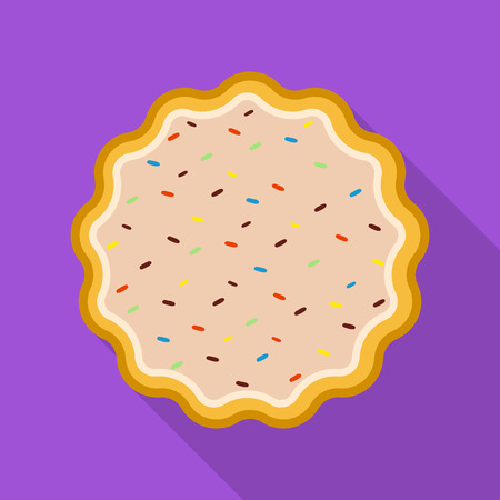 Vector design of biscuit and bake sign. Collection of biscuit and chocolate stock symbol for web.