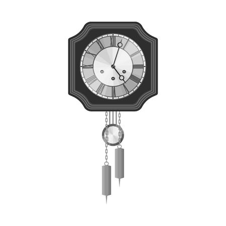 Isolated object of clock and time sign. Set of clock and circle stock symbol for web.