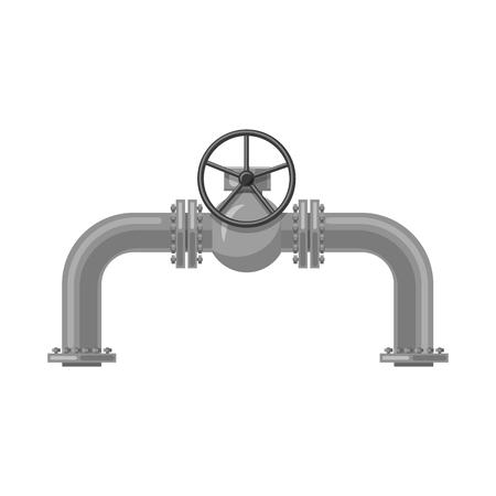 Objeto aislado de símbolo de petróleo y gas. Colección de símbolo de stock de petróleo y gasolina para web. Ilustración de vector