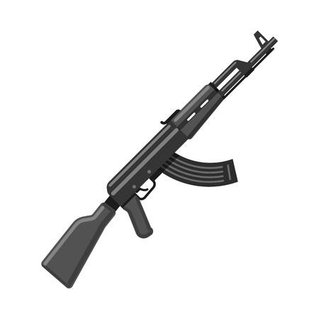 Objet isolé de l'icône d'arme et d'arme à feu. Ensemble d'armes et de symboles boursiers de l'armée pour le web.