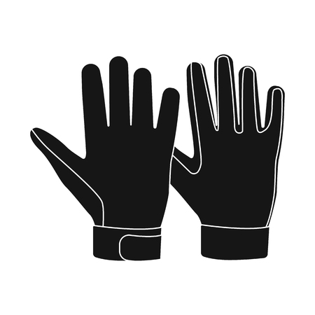 Vector design of glove and winter sign. Collection of glove and equipment stock vector illustration. Banque d'images - 115706763