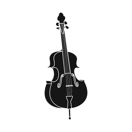 Disegno vettoriale di simbolo di musica e melodia. Raccolta di musica e strumento illustrazione vettoriale d'archivio.