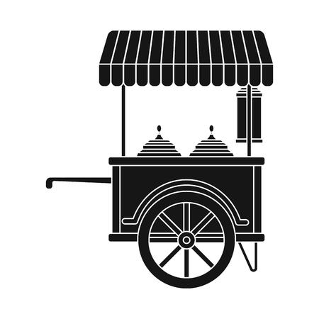 Vector design of market and exterior symbol. Set of market and food stock symbol for web. Illustration