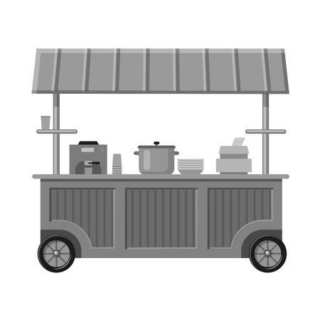 Vector design of market and exterior symbol. Collection of market and food vector icon for stock.