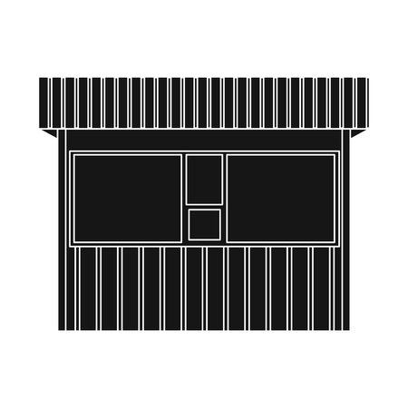Vector design of market and exterior logo. Set of market and food stock symbol for web. Illustration