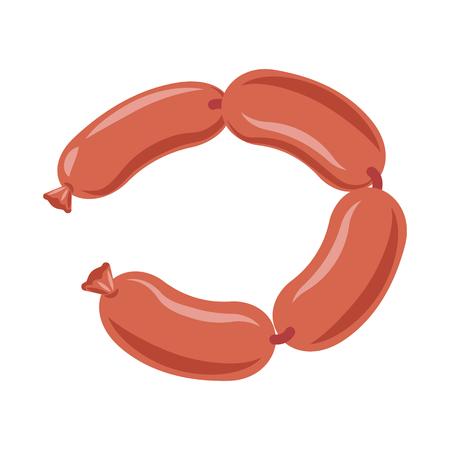 Objet isolé du logo de la viande et du jambon. Ensemble de viande et de cuisson illustration vectorielle stock.