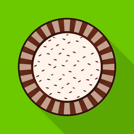 Isolated object of biscuit and bake symbol. Collection of biscuit and chocolate stock symbol for web.