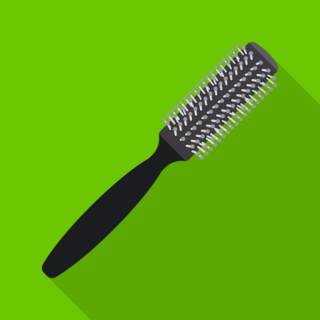 Vector illustration of brush and hair icon. Set of brush and hairbrush stock symbol for web. Illustration