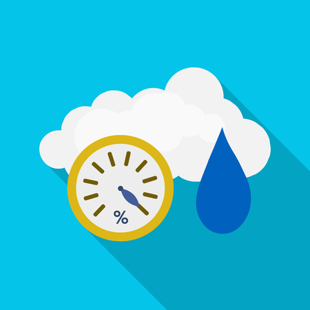 Isolated object of weather and climate sign. Set of weather and cloud stock vector illustration.