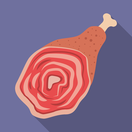 Vector illustration of meat and ham sign. Set of meat and cooking vector icon for stock.