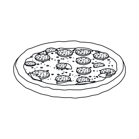 Vector illustration of pizza and food symbol. Collection of pizza and italy stock symbol for web. 일러스트
