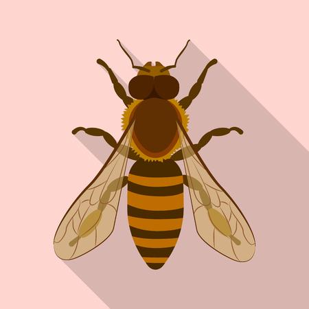 Isoliertes Objekt von Insekten- und Fliegensymbol. Sammlung von Insekten- und Elementaktiensymbolen für das Web. Vektorgrafik