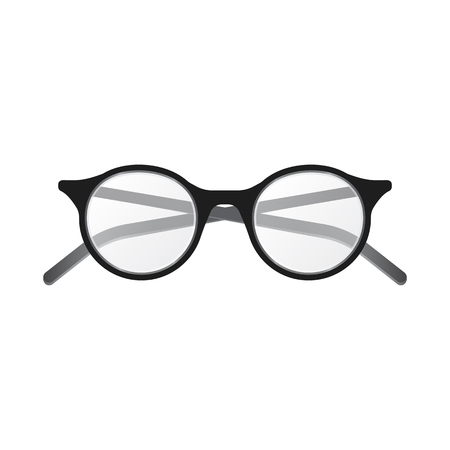 Isolated object of glasses and frame logo. Collection of glasses and accessory vector icon for stock. Ilustração