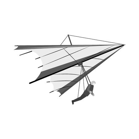 Vector illustration of plane and transport icon. Collection of plane and sky stock vector illustration. Illustration