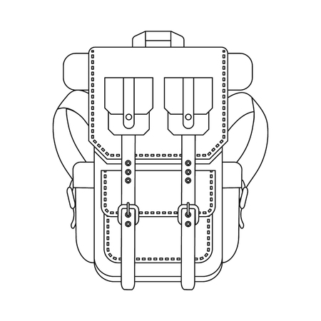 Vector design of suitcase and baggage symbol. Collection of suitcase and journey vector icon for stock.