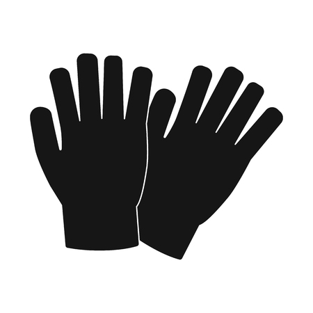 Vector illustration of glove and winter logo. Set of glove and equipment stock symbol for web.