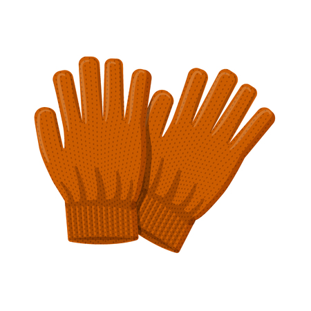 Vector design of glove and winter symbol. Set of glove and equipment stock symbol for web. Vetores
